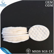Facial Make up Cleansing Cosmetic Embossing Cotton Pads