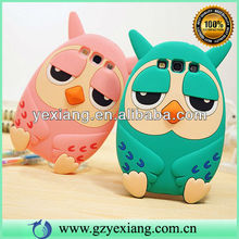 High Quality 3D Animal Silicpne Design For Samsung Galaxy S4 Case Wholesale