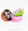 Colorful double wall salad bowl/round plastic bowl with lid