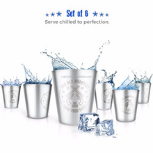 Stainless Steel 50ml Shot Glass Cup With Customized Logo