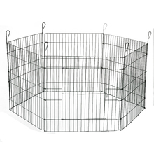 galvanized six panels steel wire puppy dog exercise play pen
