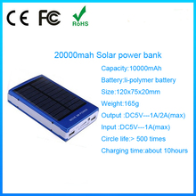 2015 universal emergency portable solar mobile phone charger 20000mah