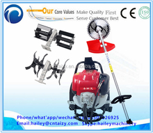 Gasoline soil loosener tilling machine