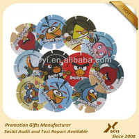 OEM Colored cheap plastic round tazo card for promotio gifts and children playing