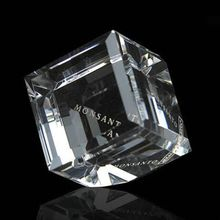 Crystal paper weight ,3 d laser crystal cube paperweight,3d photo crystal cube