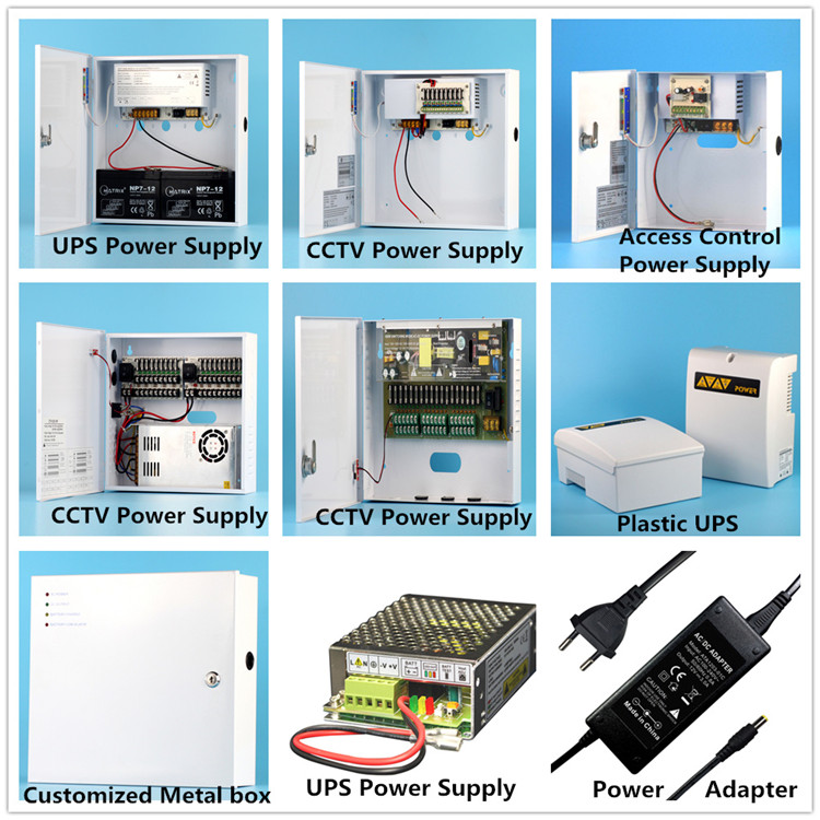 CCTV UPS Power Supply 12V 5A 4 Glass Output Fuse