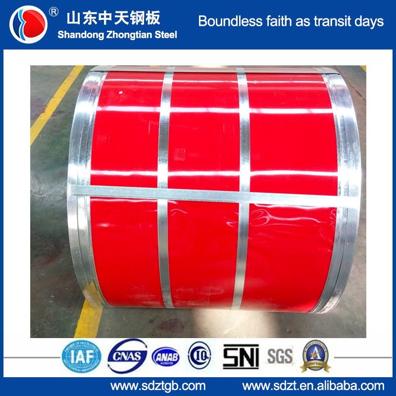 aluminium zinc coated PPGL/Prepainted Galvlume steel sheet in coil China manufacture