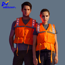 Flashing Led Safety Reflective Water Activated Life Vest