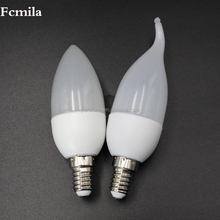 energy saving light transparent e27 led lamps that look like candles led candle lamp e14 dimmable 5W 110V 220V