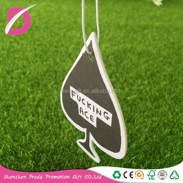 New style fragrance paper car fragrant card for promotion gifts