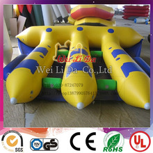 Inflatable flying commercial fishing banana boat for sale