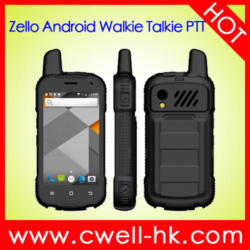 4 inch IPS Screen SOS Panic Button Zello <strong>Android</strong> Walkie Talkie PTT Mobile <strong>Phone</strong>