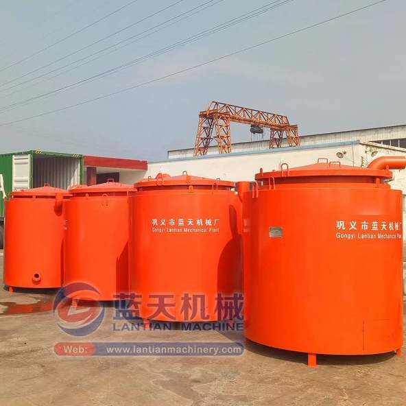 Coconut Shell Wood Olive Pomace Hydrothermal Biomass Coal Carbonization Machine