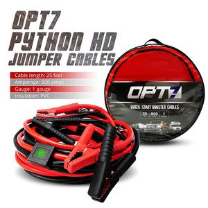 25ft Heavy Duty 2 Gauge Booster Jumper Cables Auto Car Jumping Cables 600AMP
