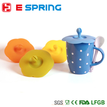 Glass Cup Anti-dust Cute Silicone Cover Coffee Mug Suction Seal Lid Cap