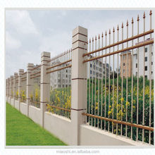 Hot sale decorative metal picket fence, garden border fence,good quality solid metal fence