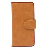 Cheap PU leather mobile phone protective flip cases, case for iphone