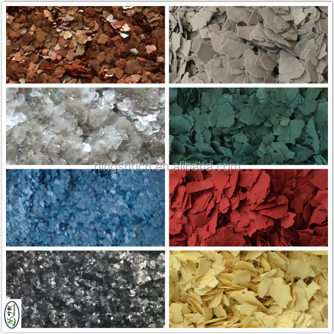 Metallic epoxy floor coating Colorful rock Flakes for Marble paint spray effect