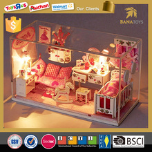 Christmas promotional gift 2016 wooden doll house