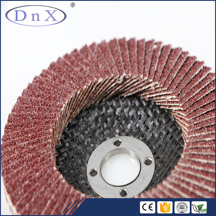 "4"" best price metal stainless steel abrasives coated flap disc factory in china"