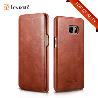ICARER Genuine Leather Phone Case for Samsung Galaxy Note 7 Flip Cover for Note7 Skin