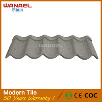 Canton Fair Hot Sale Anti Acid Rain Cheap Stone Coated Steel Tile Light Weight Roofing Materials