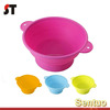 100% Food grade silicone rubber moulds home made round shape silicone cake mold with handle