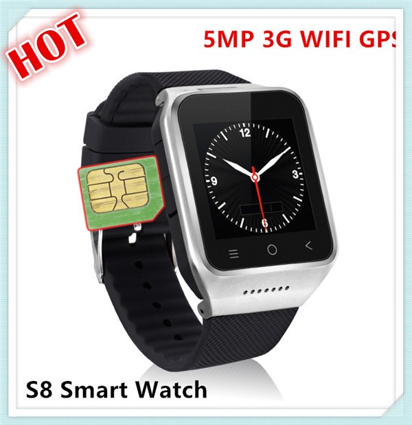 Hot S8 MTK6572 hot sale china watch mobile phone 3g smart watch 3g smartwatch