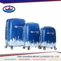 Newest factory sale strong packing hot selling special trolley case/wheeled luggage