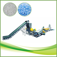 Shredded plastic PE PP pieces recycling machine