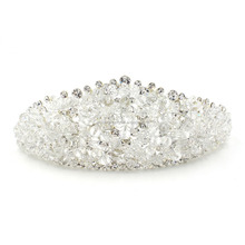 Wholesale New Fashion Luxury Crystal Rhinestone Crown Bridal Crown Tiaras for Women Bride Wedding Hair Accessories