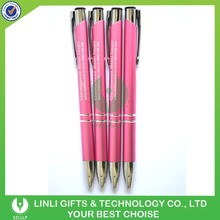 Customized Logo Engraving Promotional Pink Metal Pen
