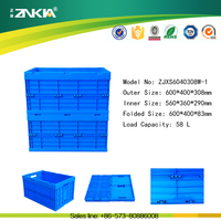 Plastic material and recyclable feature clear hard plastic EU-D box