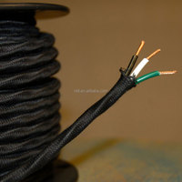 3*0.75 earth cable braided cable PVC cover