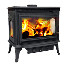 freestanding metal wood fireplace, metal fireplace round
