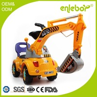 2016 new arrived Full function plastic kids ride on toy excavator for sale