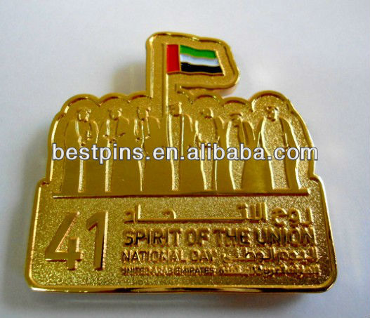 UAE pin/UAE spirit of the union national day badge(BS-AJ-LP-13102117)