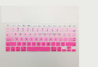 "Cheapest Wholesale Gradient Color Custom Silicone Keyboard Cover Skin Protector For Macbook Air/ Pro11"" 12 ""13 ""15"" 17 Inch"