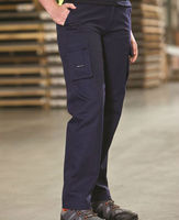 Navy blue 310 gsm cotton drill ladies heavy-duty work pant durable men cargo work pants