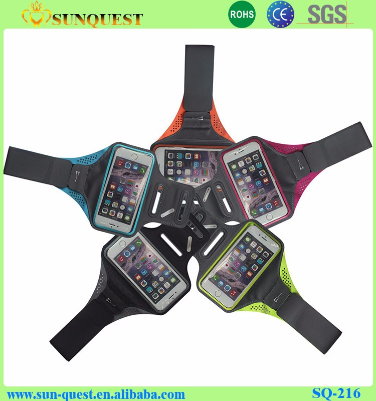 New arrival Import Lycra High Quality Colorful Fabric Armband For Iphone 5/5c/5s/6s plus