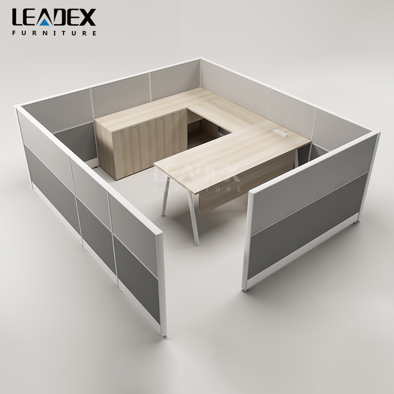 Foshan office furniture modern office workstation curved edge cubicle