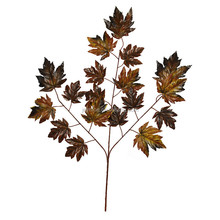 Cheap Home Indoor Decoration Simulation Crafts Artificial Maple Tree Branch and Leaves