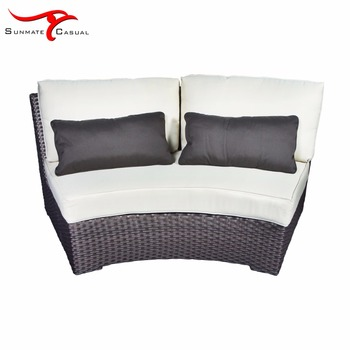 Terrace Patio Outdoor Furniture Aluminum Frame Sofa Sectional Couch Set