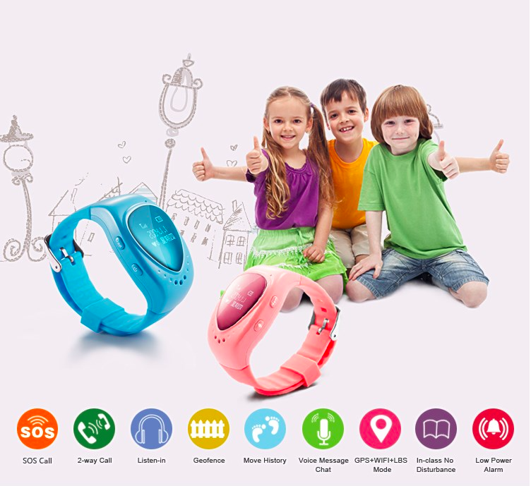 Compatibles with Android and iOS <strong>phone</strong> wrist watch gps tracking device for kids