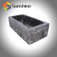 China Dark Coffee Marble Stone Shower Bath Tub