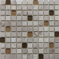 different shapes travertine glass mosaic tiles for interior and exterior wall decortion