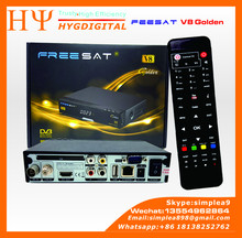 Freesat Manufacturer V8 Golden DVB-S2+T2+C 3 in 1 Combo Digital Satellite Receiver better than V8 Pro IPTV Set Top Box