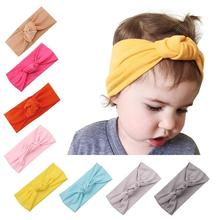 2018 Trending amazon hot sale stretchy comfortable breathable bow knotted newborn infant baby kids children cotton headband