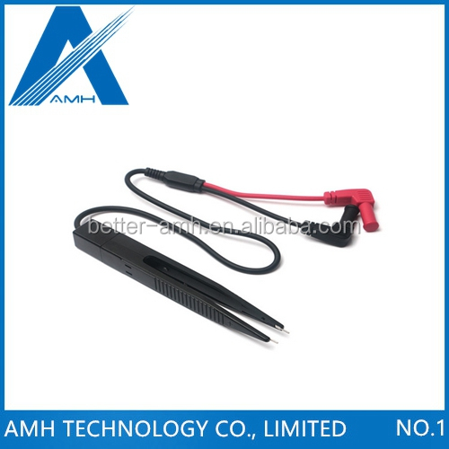 1PC SMD SMT Test Leads Chip Component LCR Testing Tool Multimeter Tester Clip Meter Pen Lead Probe Tweezers Capacitor Resistance