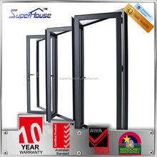 Superhouse As2047 As2208 standard Thermal broken insulation frame double glazed bi fold doors